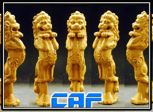Lion figurehead Boxwood carving For wooden model ship kit - 1 / packet