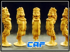 Lion figurehead Boxwood carving For wooden model ship kit - 2 / packet