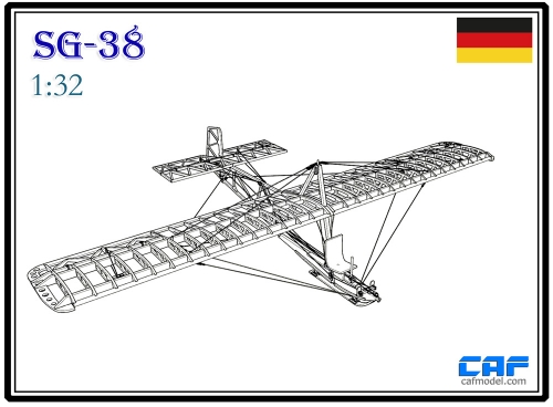 DFS SG38 Schulgleiter German primary glider Scale 1/32 wooden model kit